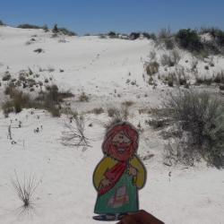 Greisen Family - We're hanging out with Flat Jesus at White Sands National Monument in New Mexico today! - 1